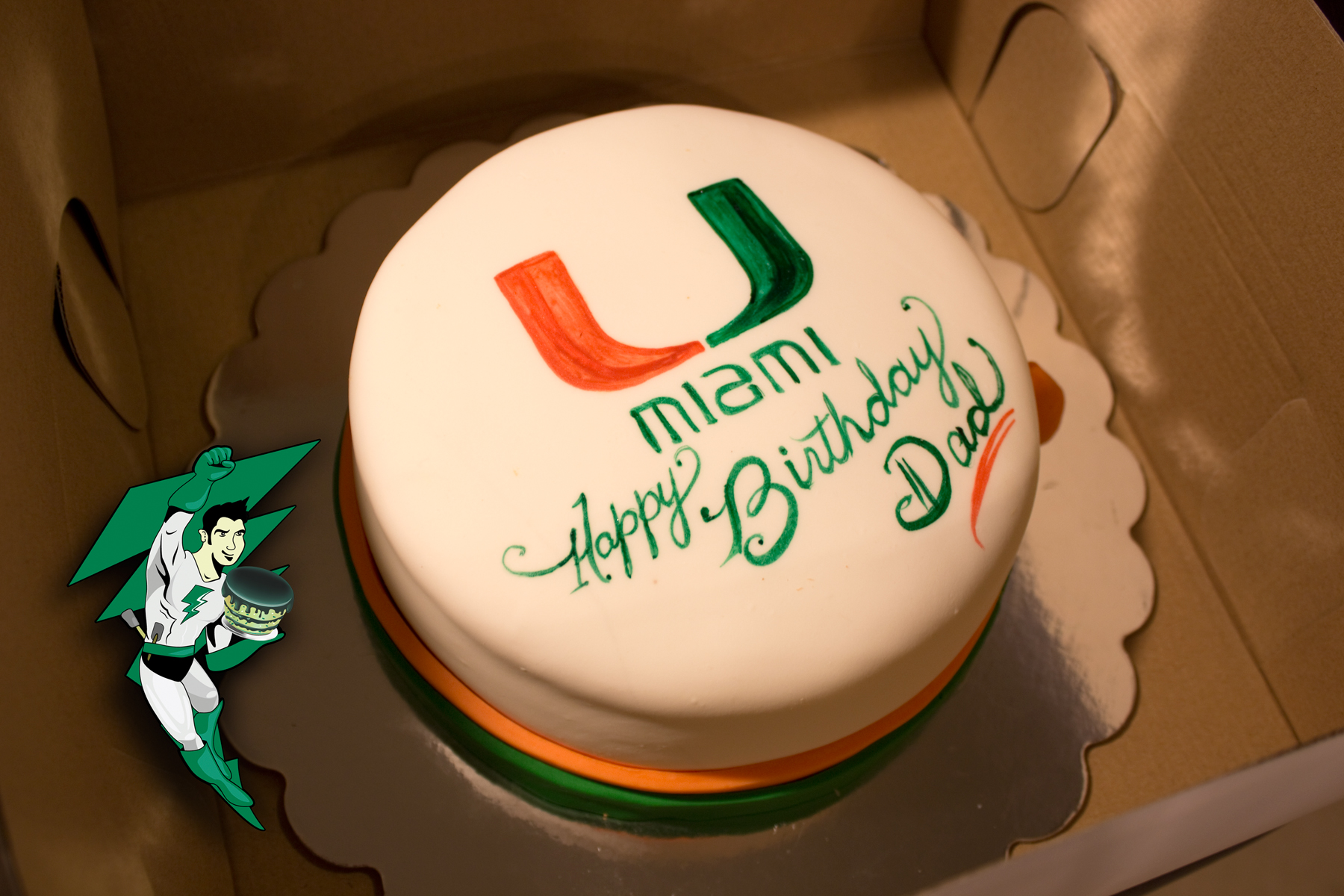 Um Miami Dad Birthday Electric Cake Company